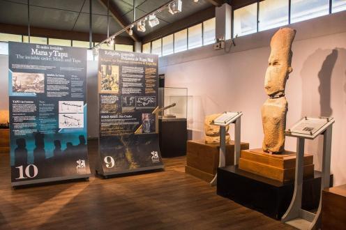Notranjost antropološkega muzeja na Velikonočnem otoku