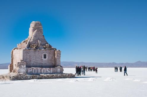 Dakar spomenik na Salar de Uyuni