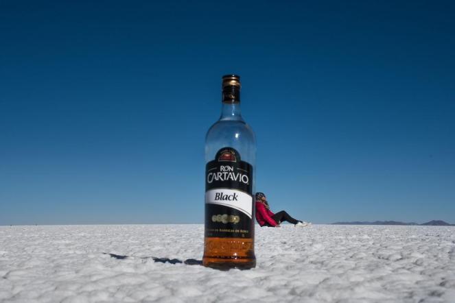 Potepuški nasveti za Salar de Uyuni - fotka iz perspektive z rumom