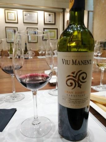 Vino Carmenere, vinska klet Viu Manent