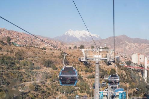 Teleferico v La Pazu