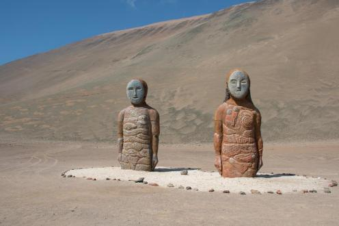 Pojoča kipa na severnem delu Čila - nasveti za Čile