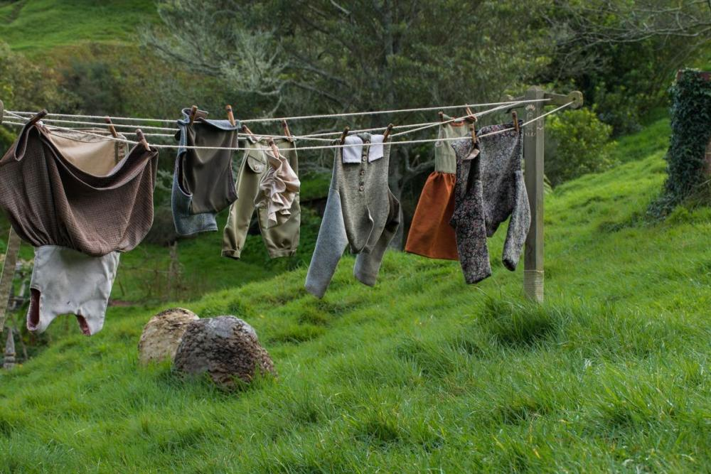 Hobbit suits that dry on the rope