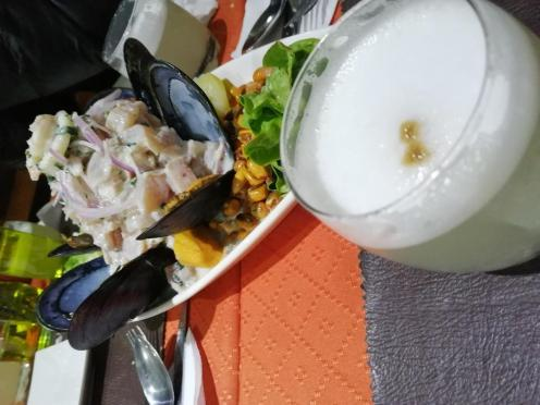 Pisco in ceviche
