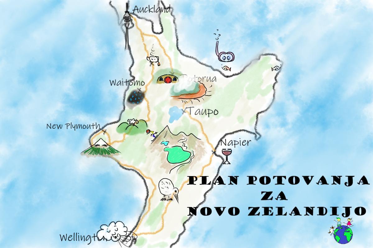 Plan potovanja za Novo Zelandijo - naslovna slika