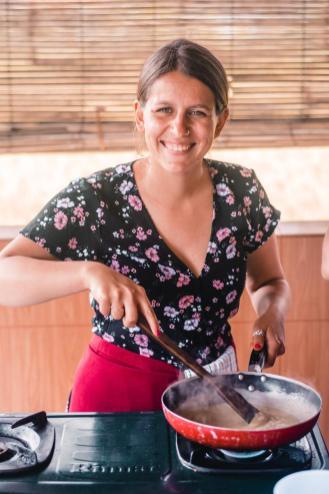 Sandra kuha arašidovo omako