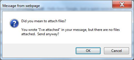 Gmail forgotten attachment reminder