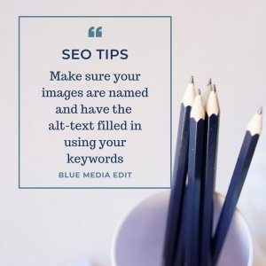 SEO tip fill in the alt text for images