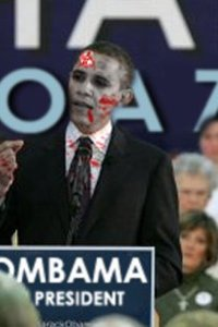 President Obama all zombified.