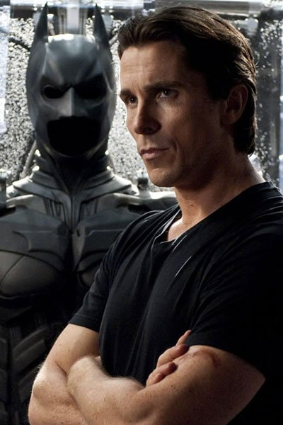 Christian Bale as Bruce Wayne.