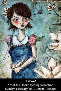 Allison Weeks Thomas' illustration of To Kill a Mockingbird for ZaPow's show 'Art of the Book'
