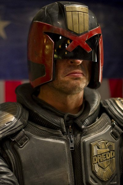 Carl Urban as Judge Dredd from Dredd.