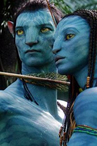 Avatar-driving Jake and his reluctant tutor Neytiri.
