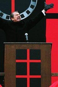 John Hurt as the charismatic dictator.