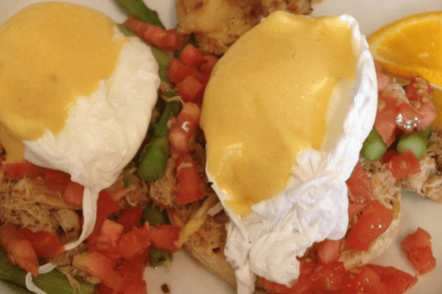 Crabmeat Eggs Benedict - Blue Moon Grill Wakefield via Yelp by Leslie M.