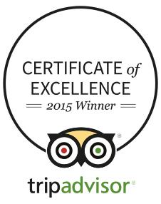 Trip Advisor Certificate of Excellence Winner 2015