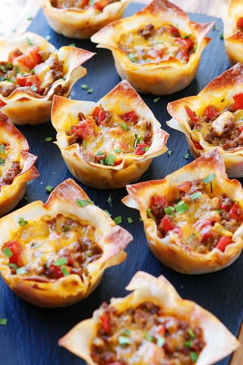 Superbowl Snack Ideas - Crunchy Taco Bites