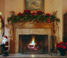 Fireplace in Blue Mountain Mist's Inn