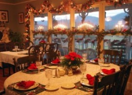 Dining area at the Sevierville bed and breakfast