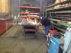 Rich welding flare mower.