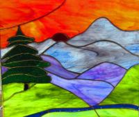 Blue Mountain Stained Glass - PRIVACY WINDOWDESIGNS BY PAM ...