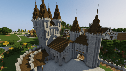 minecraft castle medieval build tutorial welcome series