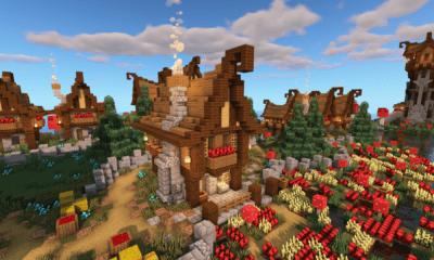 Minecraft Medieval Village With Castle World Download BlueNerd
