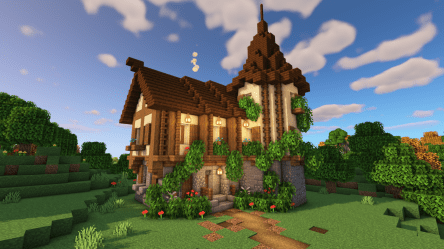 Minecraft: How to Build a Medieval House Easy Medieval House Tutorial BlueNerd