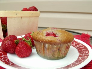 Strawberry Muffin by the Bluenose Baker