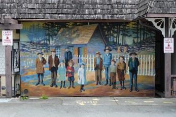 Murals in Chemanius, BC
