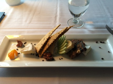Cheese plate at Sooke Harbour House