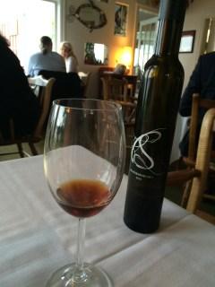 Desert wine at Sooke Harbour House