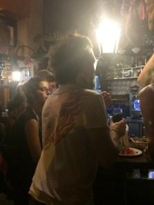 Bar Alfalfa - man with a bird