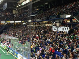 Sell-out crowd at the Rush game