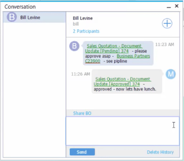 SAP Business One Reading and Responding to New Messages