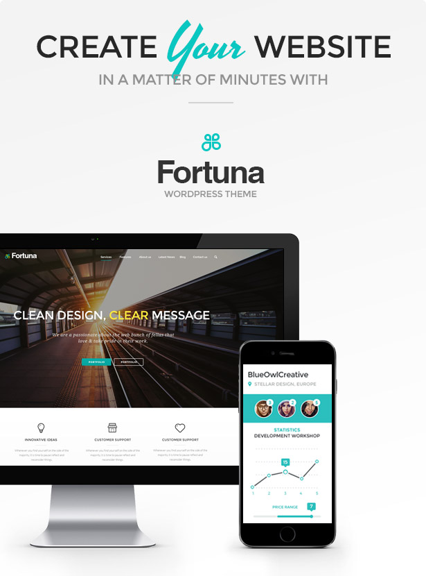 Fortuna - Responsive Multi-Purpose WordPress Theme - 1