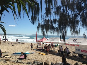 Noosa Mal club comp, left rip bank in the background.
