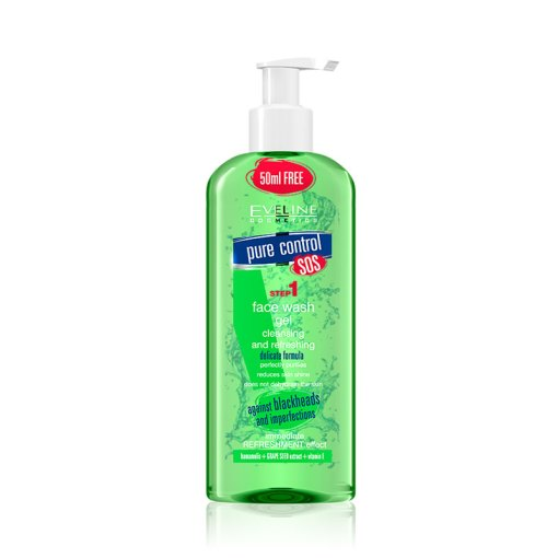 Eveline Pure Control STEP1 Face Wash Gel Green / 200ml
