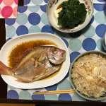 最高の夕食! 鯛料理!! 鯛飯 に鯛煮付