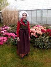 Vero with the tradicional danish costume