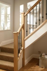 Black Iron Square Rake Stair Spindles   Blueprint Joinery