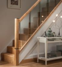 Reflections Glass Stair Landing Panels