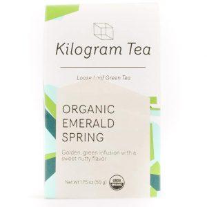 Organic Emerald Spring Loose Leaf Green Tea from Kilogram Tea.