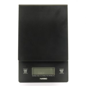The hario drip scale is an excellent digital scale for weighing and timing brews.