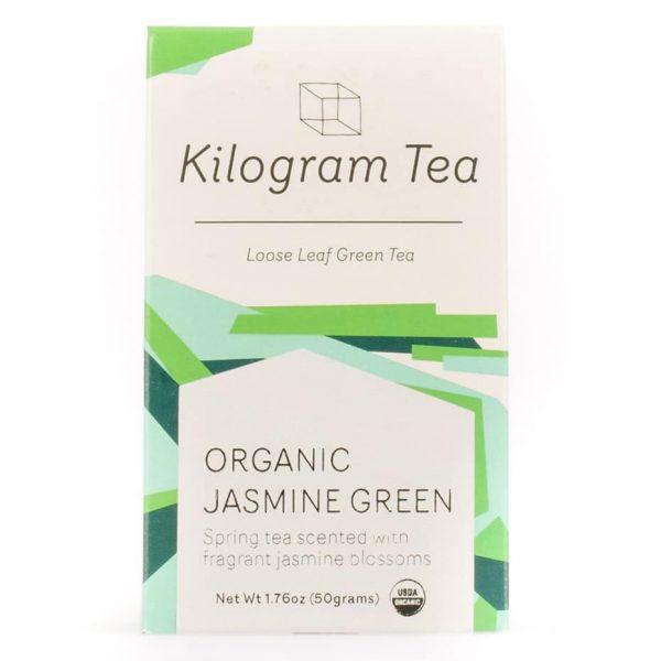 Organic Jasmine Green Loose Leaf Tea from Kilogram Tea.