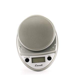 The Escali Primo digital scale in grey.