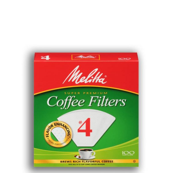 The Melitta #4 cone filters fit the Bonavita 5-cup brewer and an assortment of cone-style brewers.