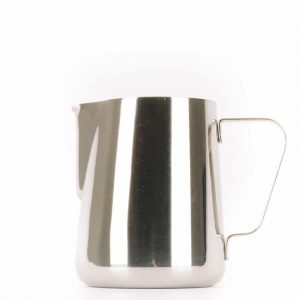 A 20-ounce milk steaming pitcher.