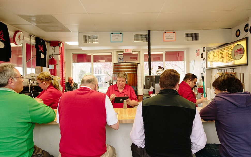 the counter at carl's