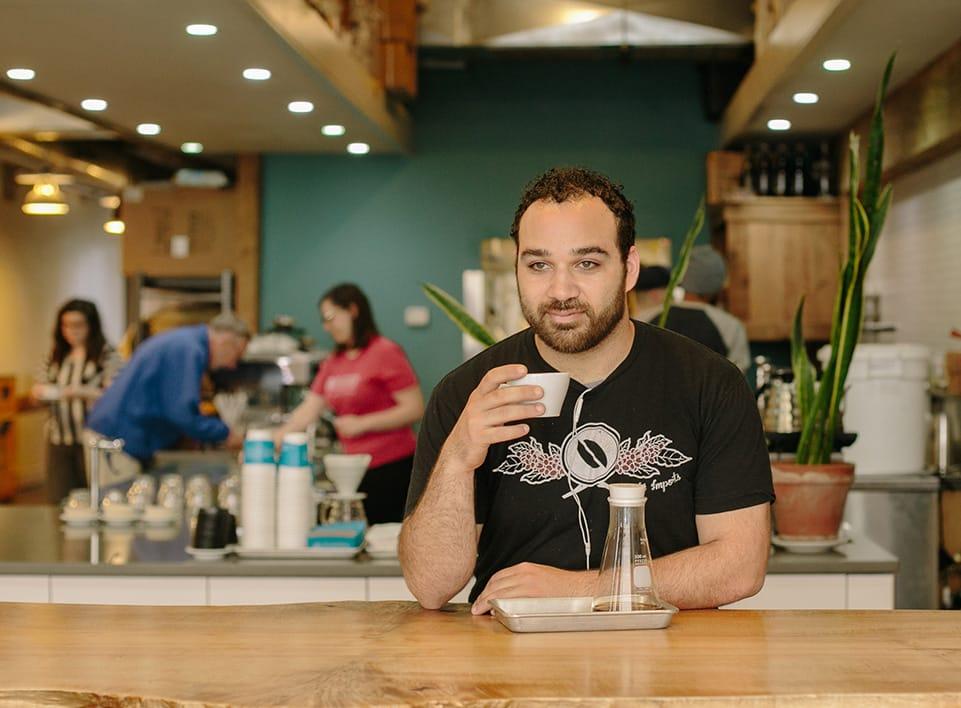 Mazi Razani, founding member of Blueprint Coffee.